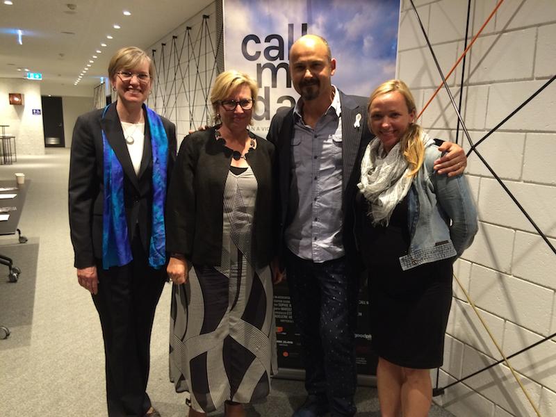 Calle Me Dad. Sophie Weisner (R) and Rosie Batty (centre)