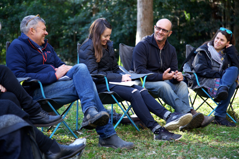 L to R: Ian Darling, Malinda Wink, Richard Todd, Anna Kaplan. Shark Island Institute 2016